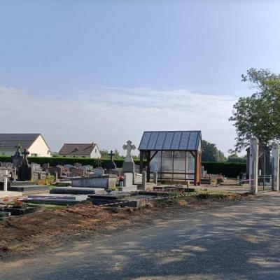Rénovation mur du cimetière