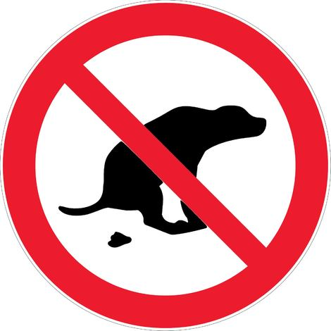 Panneau dejection canine interdite novap p 3329005 7475747 1